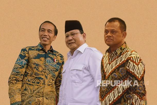 Survei LKPI! Jokowi Melorot, Prabowo dan Gatot Nurmantyo Melejit