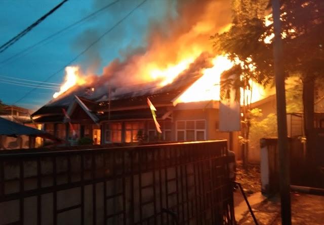 Kantor BPMPT Muara Enim Kebakaran