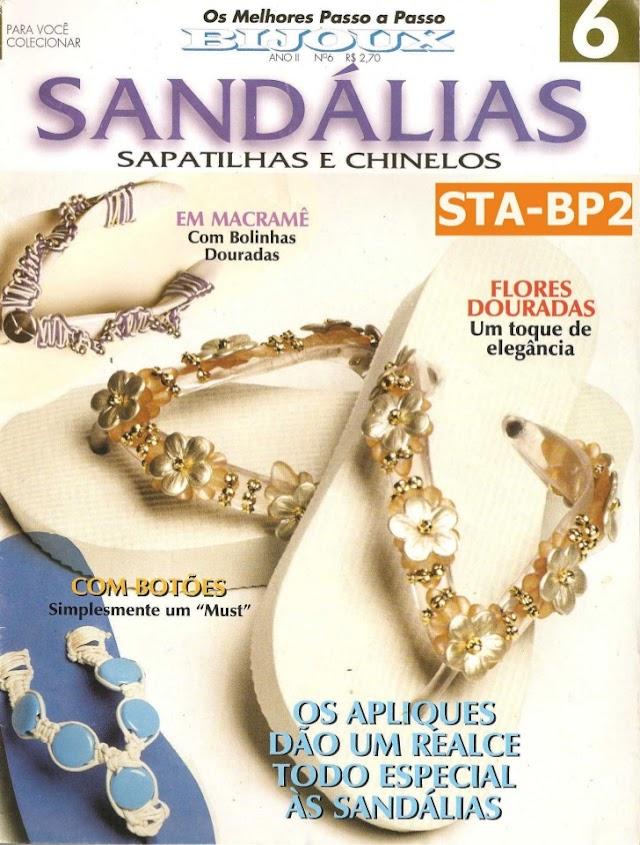 Sandálias,Sapatilhas E chinelos Decorados-Revista