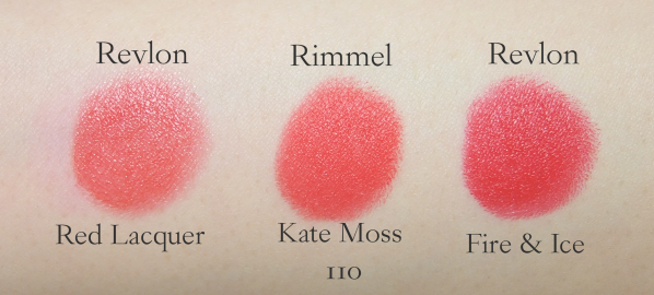 Rimmel Lasting Finish by Kate 110 comparison swatch