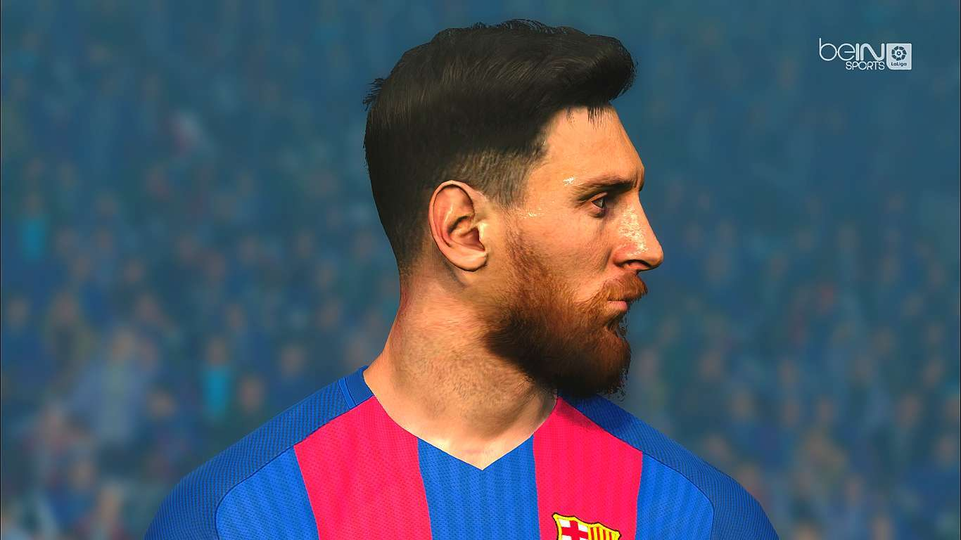 lionel messi new hair 3d beard pes 2017 patch pes