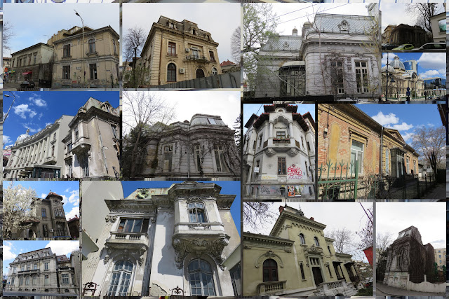 French-inspired facades in Bucharest, Romania