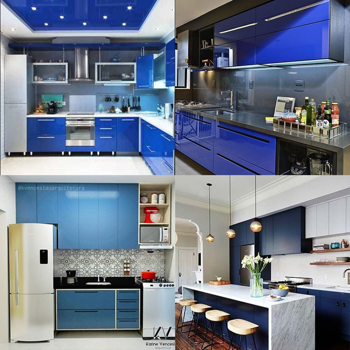 Cozinha dos Sonhos: Cozinha com Decoração Azul