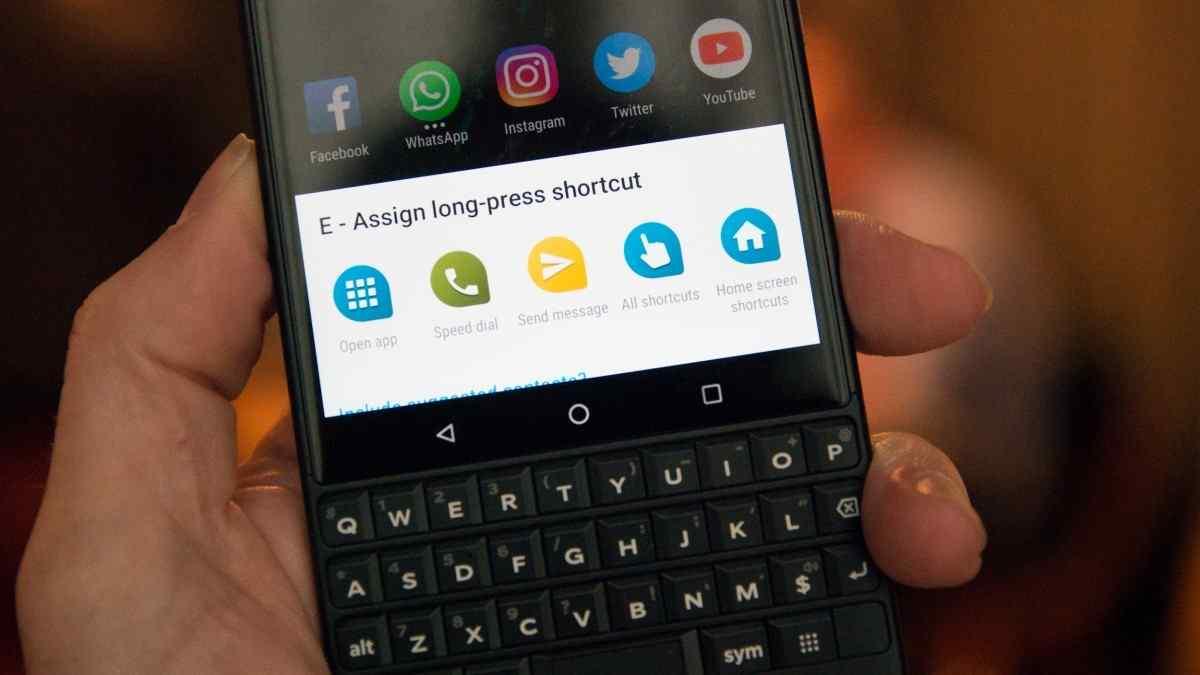 The Blackberry Key2 Keyboard Shortcuts