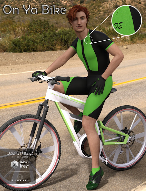 Bike Race Outfit for Super Bodysuit for Genesis 3 Male