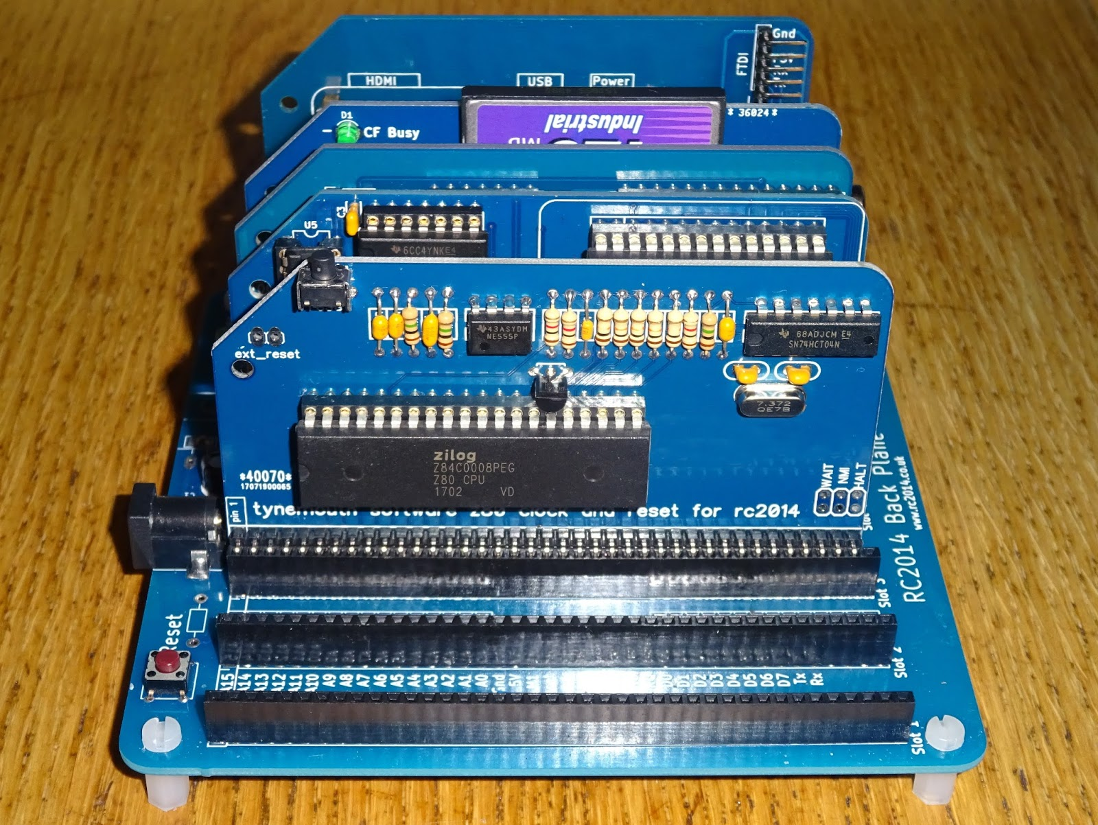 Tynemouth Software: Z80 CPU, Clock and Reset module for RC2014