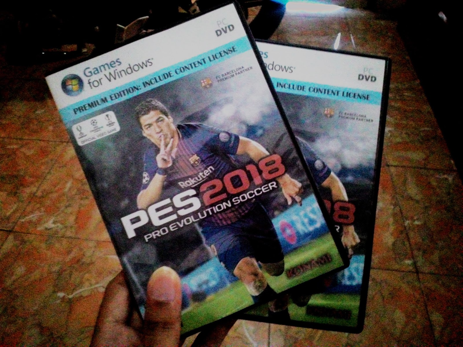 READY STOCK!! DVD PES 2018 FULL GAMES CPY + CONTENT LICENSE