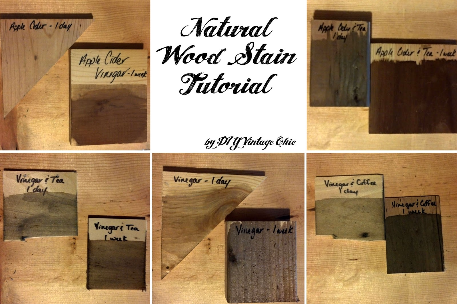 Diy Vintage Chic Natural Wood Stain Tutorial