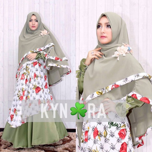 Kumpulan Gambar Baju Muslim Gamis Modern Pesta Untuk Ibu Hamil