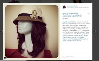 paper faces butik instagram hasır şapka cameo