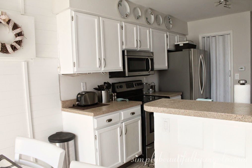 Repainting The Kitchen Cabinets Part 2 The Big Reveal Simply Beautiful By Angela