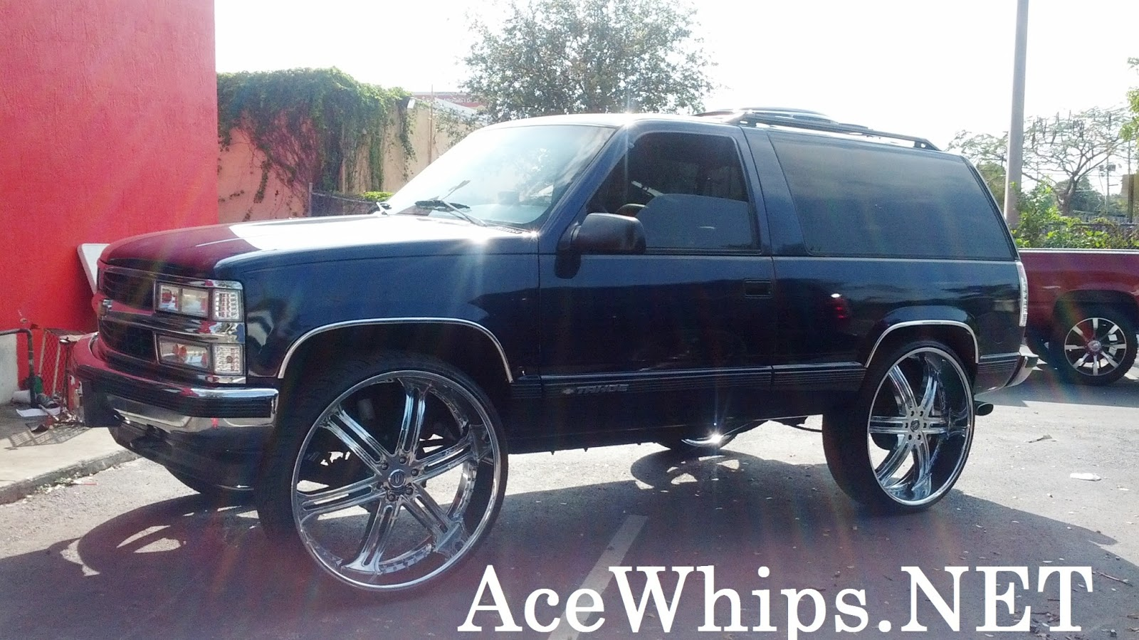 2dr chevy tahoe truck on 30 versante rims lifted by wtw customs 754 200 6050 [ 1600 x 899 Pixel ]