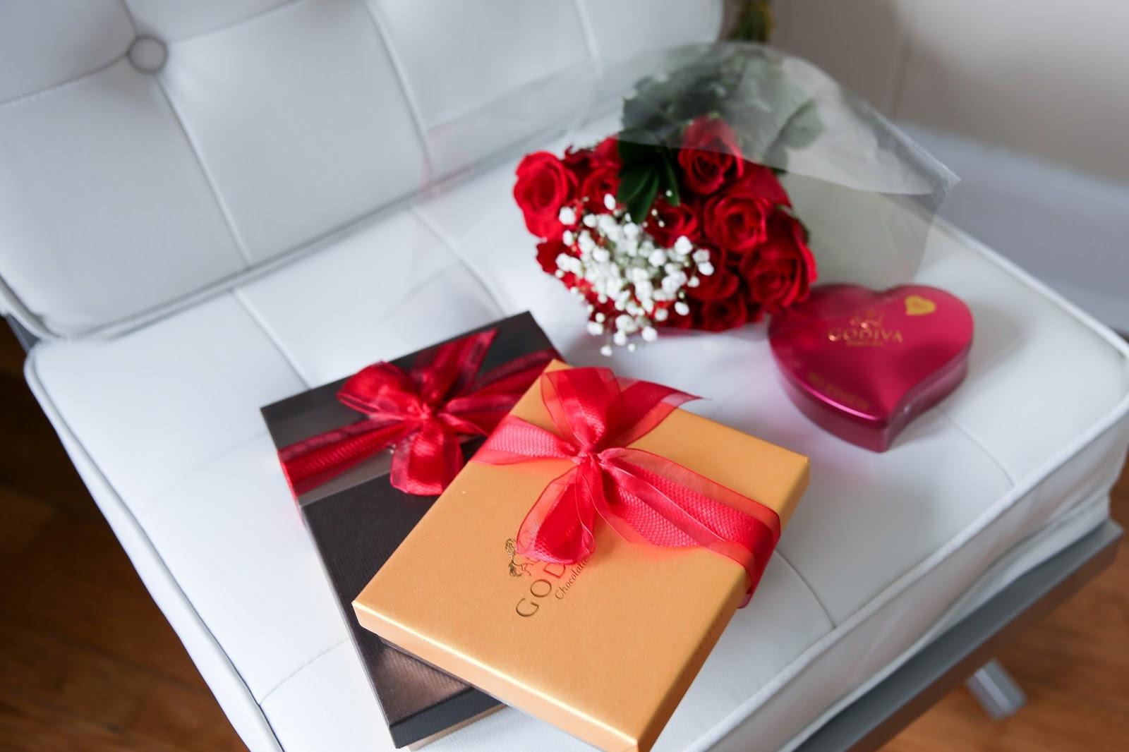 Roses and Godiva Chocolate