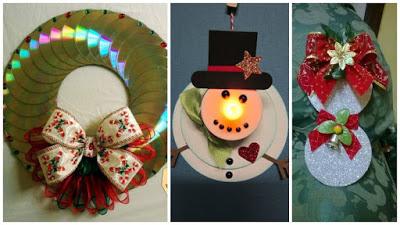 adornos-navideños-reciclando-cds