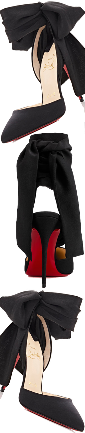 Christian Louboutin Douce du Desert Red Sole Pump, Black