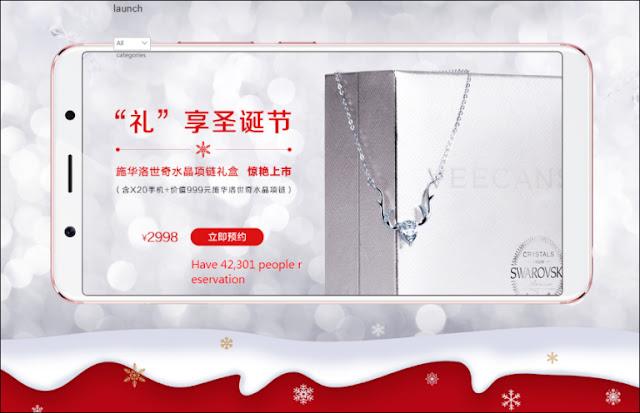 Vivo X20 Versi Swarovski Gift Box dengan Kalung Kristal Diumumkan