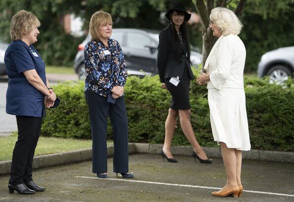 The Prince of Wales and The Duchess of Cornwall visited Asda Distribution Centre and Turnbull and Asser shirt company