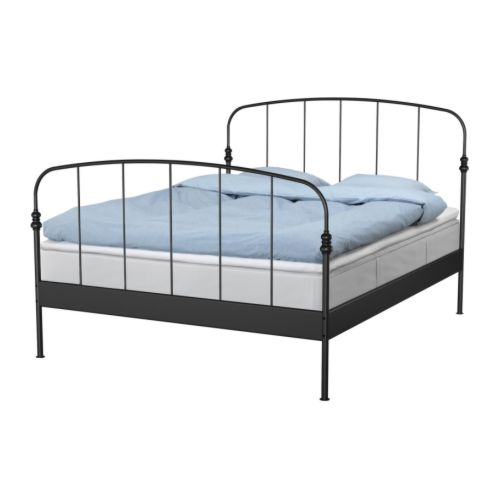 Two Men And A Little Farm Black Metal Bed Frame
