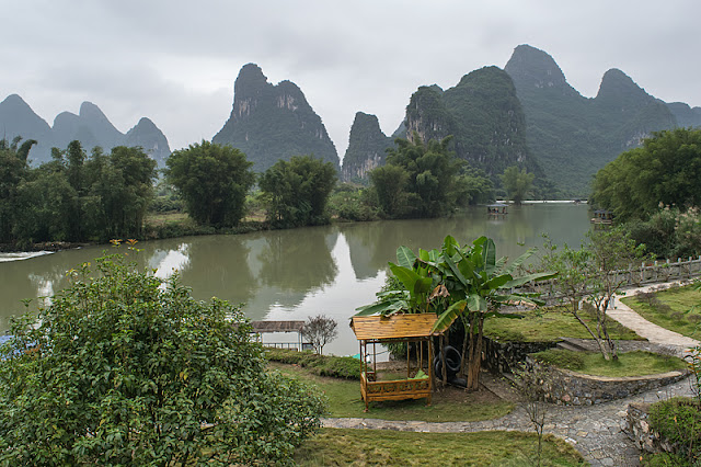 La vue qu'offre le Yangshuo Mountain Retreat