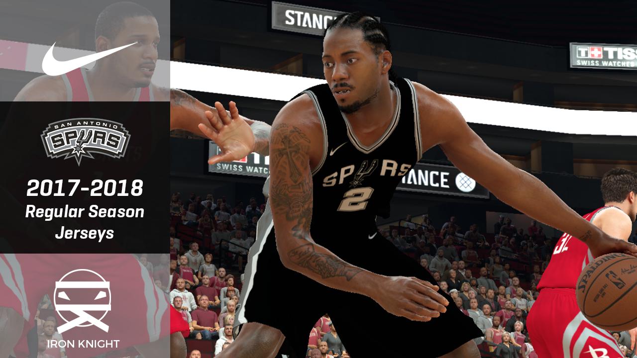 "DNA Of Basketball | DNAOBB: NBA 2K17 San Antonio Spurs 2017-2018 ""Icon"" Jerseys by IronKnight"