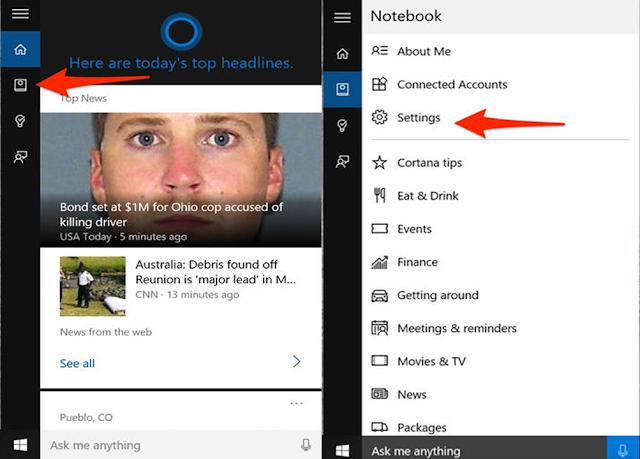 كيفية تفعيل Cortana على ويندوز 10