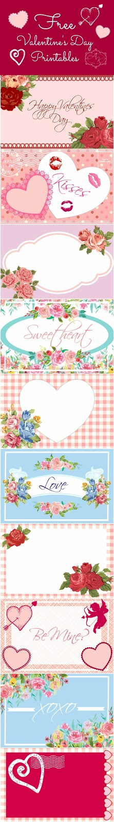 Free Valentines Day printable cards. Cute Valentines ideas. MamasGoneCrafty.com
