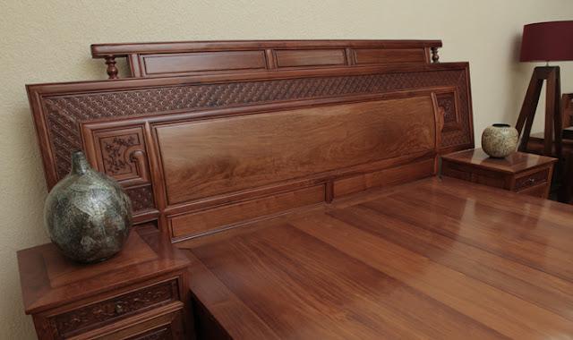 Giường ngủ gỗ hương đẹp