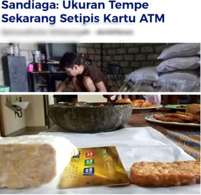 Image result for Ini 6 Gambar Meme Yang Bikin Ngakak Tempe Setipis Kartu ATM Yang Di Sebut Oleh Sandiaga Uno !!!