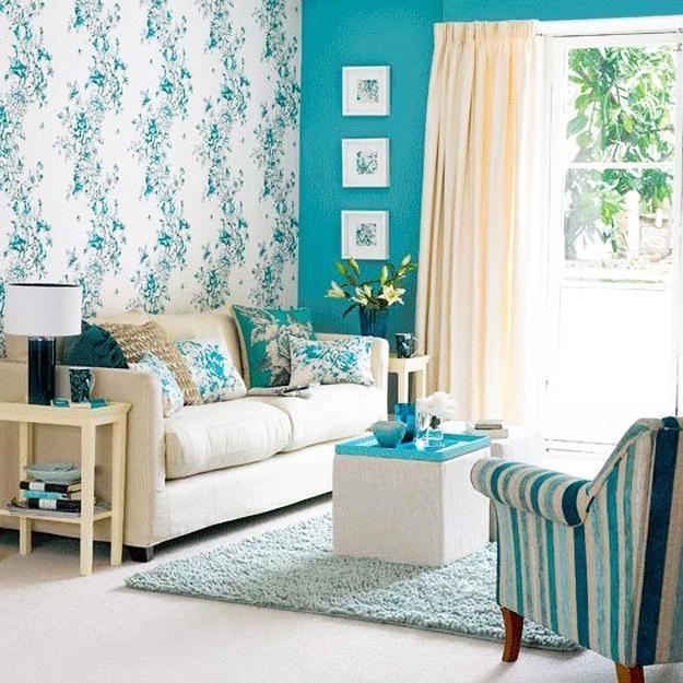 Kombinasi warna cat dinding biru untuk interior rumah Light Blue