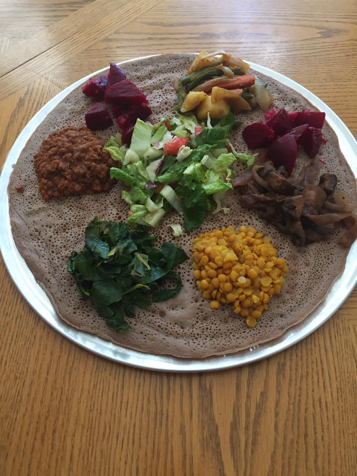 The art of plant based meal creation ethiopia injera ethiopian ethiopia injera ethiopian bread and missir wot spicy red lentil stew forumfinder Image collections