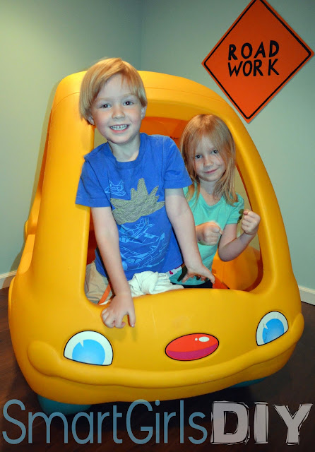Smart Girls DIY: happy kids playing in basement