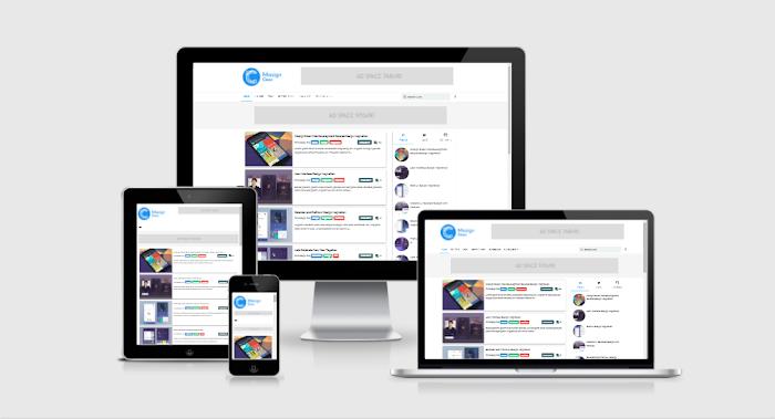 Free Template Blogger Masign Clean Material Design Premium