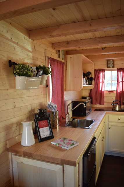 Inside a tiny house - the kitchen