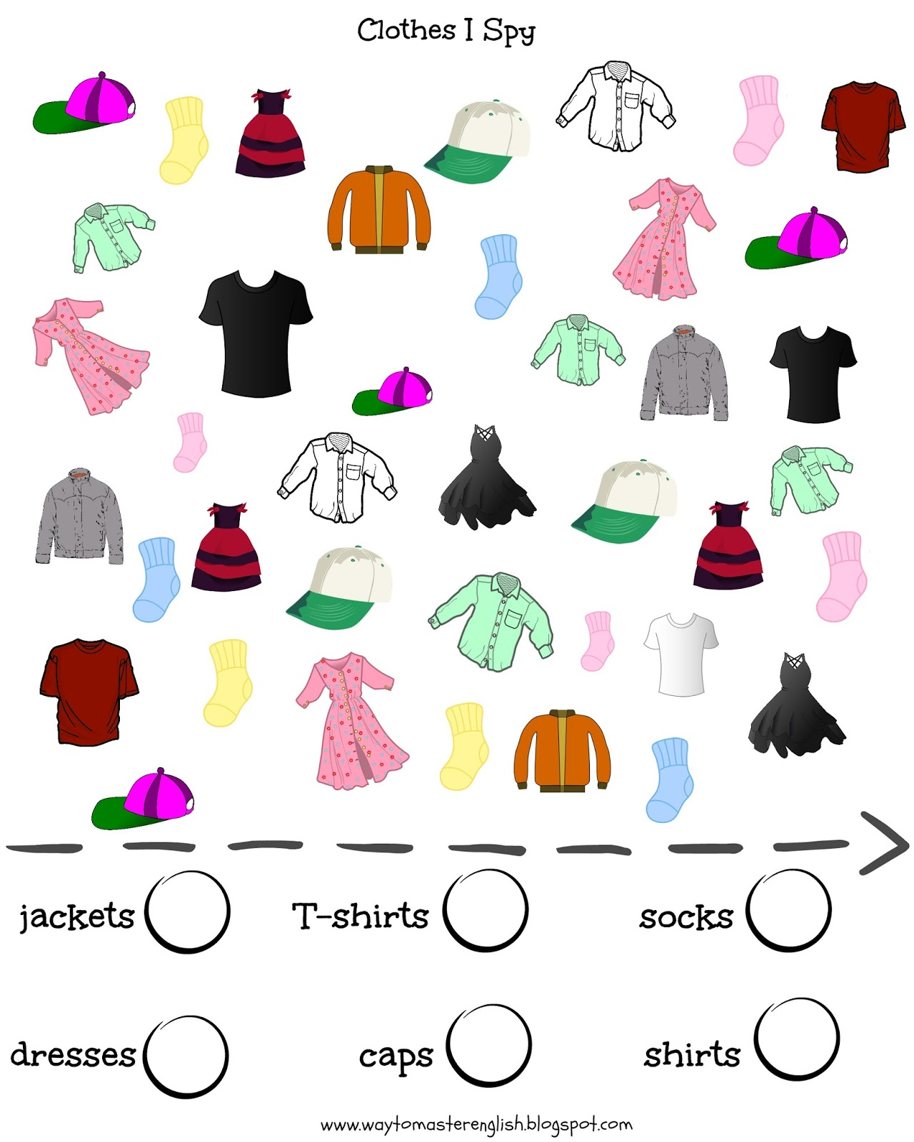 Worksheet About Clothing