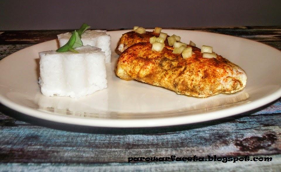 filet z piersi z ryżem jaśminowym w parowarze