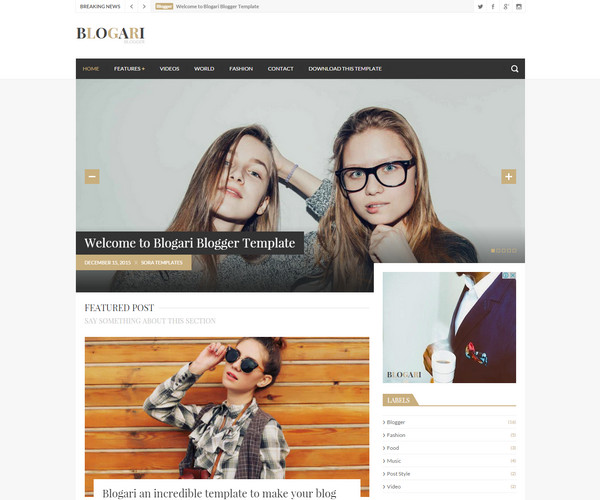 Blogari Template blogspot