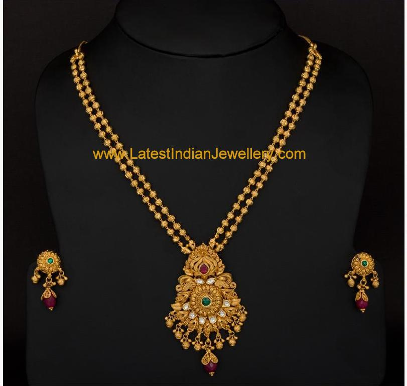 Gorgeous Antique Gold Haram Set