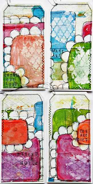 Mixed Media Tutorial | fertige Tags