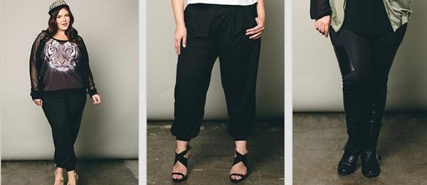 outfits con pantalones para gorditas como estos: