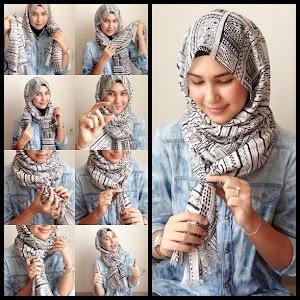 7+ Tutorial Hijab Segi Empat Simpel dan Modis Remaja 2018