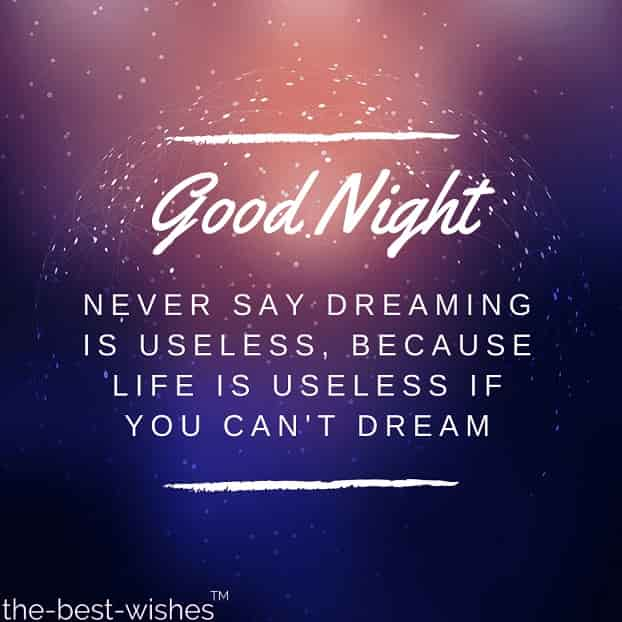 inspirational good night quote