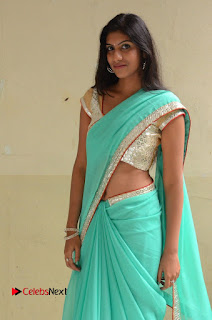 Actress Srilekha Pictures in Green Saree  0066