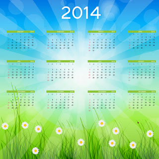 Hermoso calendario 2014 en vector gratis