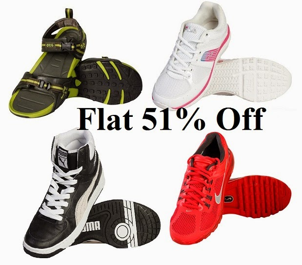 (Expired) End of Season Sale: Flat 51% Off on Major Brand Sports Shoes & Floater (Nike | Fila | Puma | Skechers | Spalding | Umbro)