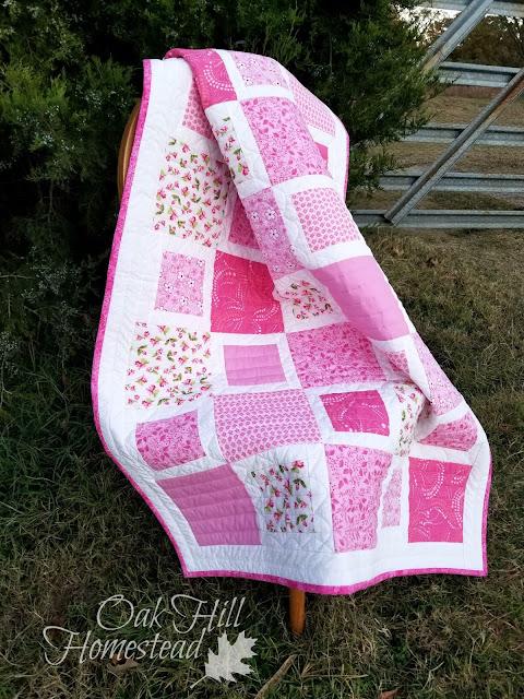 Homestead Crafts Cherry Blossom Crib Quilt Oak Hill