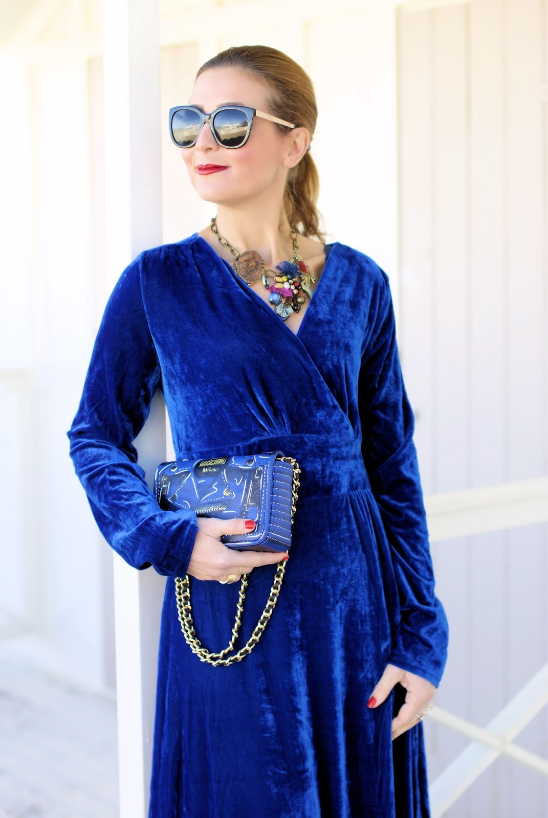 Rosegal velvet dress on Fashion and Cookies fashion blog, fashion blogger style