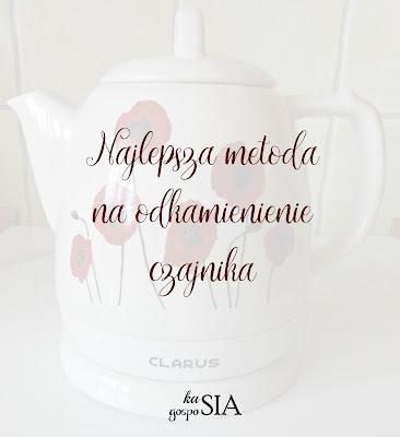 Jak odkamienić czajnik – sposób stosowany przez Kasię Gosposię
