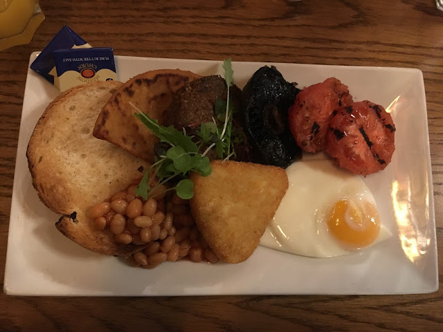 Full scottish breakfast, full scottish vegetarian breakfast