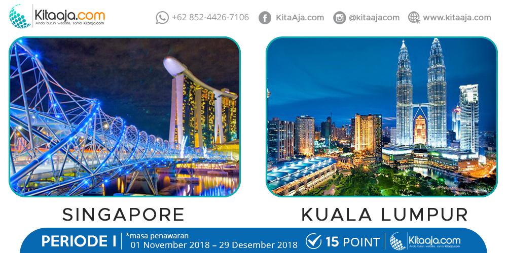 Jalan-Jalan Gratis ke Luar Negeri Kuala Lumpur - SIngapore | KitaAja.com