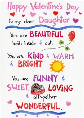 I Love My Daughter Quotes And Sayings Inspiration Happy Valentines Day To My Daughter Quotes & Images 2017
